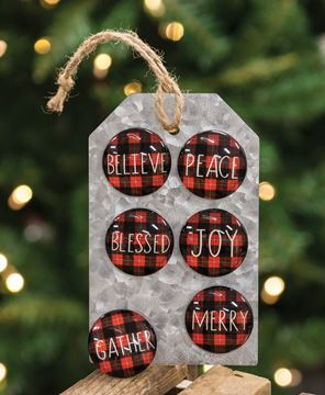 Picture of Buffalo Check Christmas Magnets, 6/Set