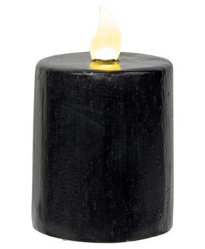 "Picture of Black Gloss Pillar Candle, 2.5"" x 4"""
