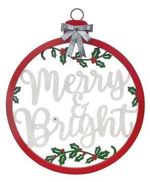 Picture of Merry and Bright Bulb Sign