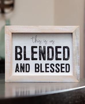 Picture of Blessed and Blended Framed Sign