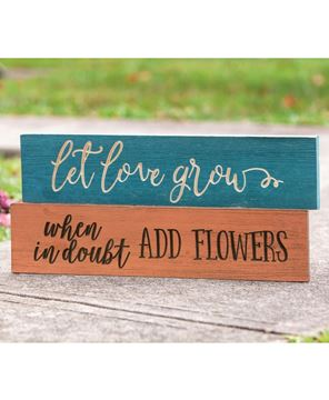 Picture of When In Doubt Add Flowers Engraved Sign, 24""