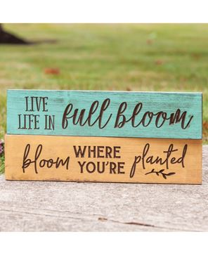 Picture of Live Life In Full Bloom Engraved Sign, 24""