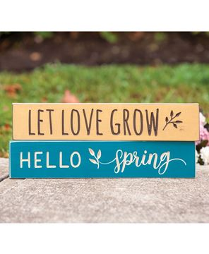 Picture of Let Love Grow Engraved Sign, 18""