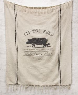 Picture of Tip Top Feed Farmhouse Throw