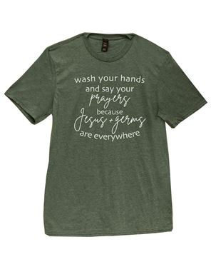 Picture of Wash Your Hands T-Shirt, Dark Green - XXL