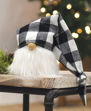 Picture of White Buffalo Check Cap Gnome, 7""