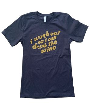 Picture of I Workout For Wine T-Shirt, XXL
