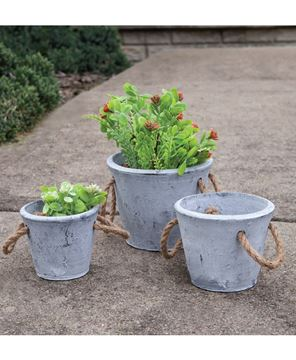 Picture of Cement Planter With Jute Handles, Large
