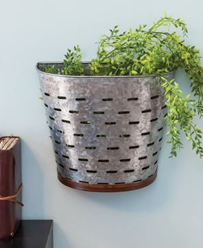Picture of Galvanized Olive Bucket Wall Hanging