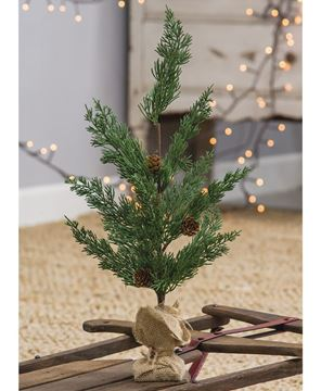 "Picture of 19"" Pinecone Tree w/ Burlap Base"