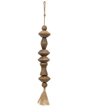 Picture of Large Beaded Tassel-Wood