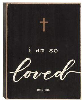 Picture of So Loved Box Sign