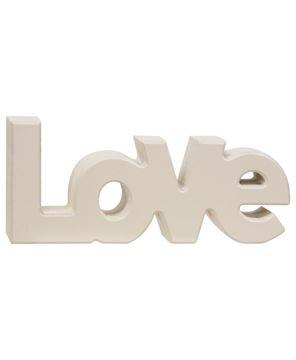 "Picture of Wooden ""Love"" Block, Cream"