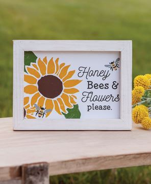 Picture of Honey Bees & Flowers Please Frame