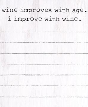 Picture of I Improve with Wine Mini Notepad