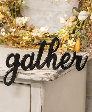 Picture of Hanging Black Script Gather Sign
