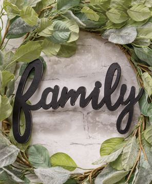 Picture of Hanging Black Script Family Sign