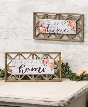 Picture of Home Blessings Lattice Sign, 2 Asstd.