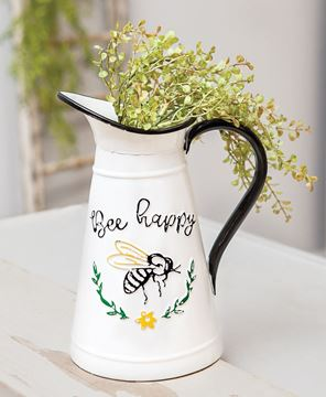 Picture of Bee Happy Enamel Pitcher