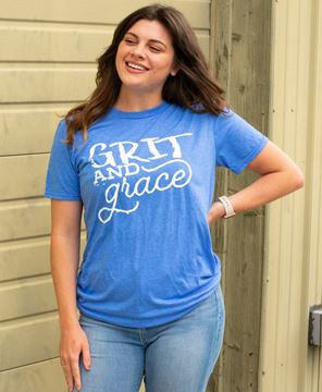 Picture of Grit and Grace T-Shirt, Heather Blue, XXL