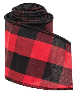 Picture of Wired Black & Red Buffalo Check Ribbon