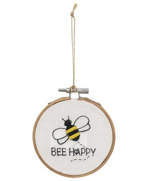 Picture of Bee Sampler Ornament, 2 Asstd.