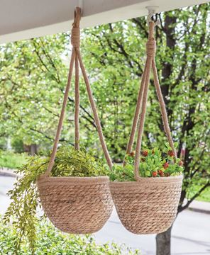Picture of Jute Hanging Flower Pot Holder, Small