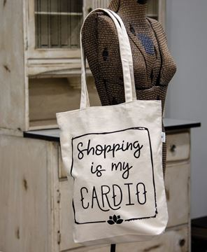 Picture of Shopping Is My Cardio Canvas Tote