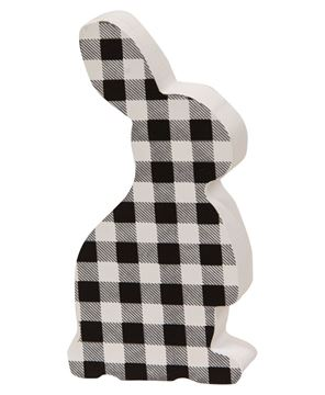 Picture of Black & White Buffalo Check Chunky Bunny
