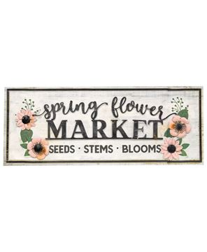 Picture of Spring Flower Market Sign