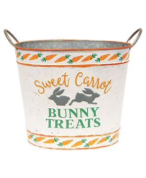 Picture of Sweet Carrot Bunny Treats Oval Bucket