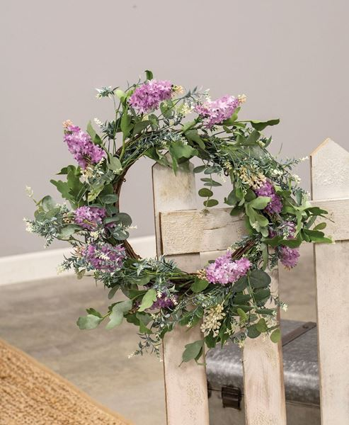 """Picture of Purple Wildflowers Wreath, 24"""""""