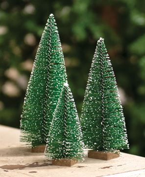 """Picture of Snowy Bottle Brush Tree, 7"""""""