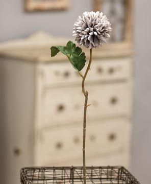 "Picture of Pompom Flower Stem, 14"", Light Purple"