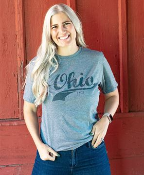 Picture of Ohio Swoosh T-Shirt, Heather Graphite