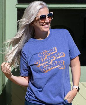 Picture of Good Things Are Coming T-Shirt, Heather Blue, XXL