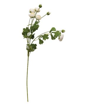"""Picture of Rose Blooms Spray, 33"""", Ivory"""
