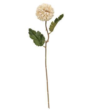 "Picture of Pompom Flower Stem, 14"" White"