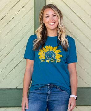 Picture of Soak Up The Sun T-Shirt, Heather Deep Teal