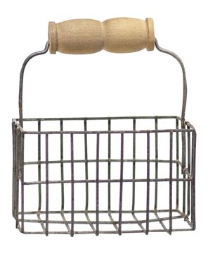 Picture of Mini Wire Wide Egg Basket w/Handle