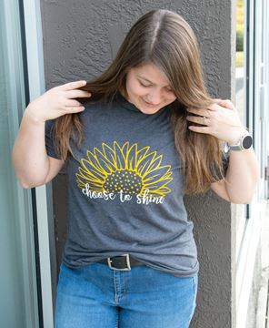 Picture of Choose To Shine Sunflower T-Shirt, XXL