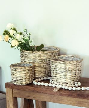Picture of Greywashed Willow Planter Baskets, 3/Set