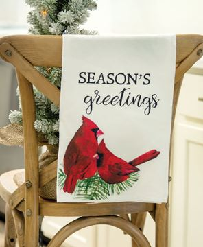 Picture of Season's Greetings Cardinal Dish Towel