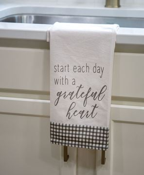 Picture of Start Each Day With A Grateful Heart Dish Towel