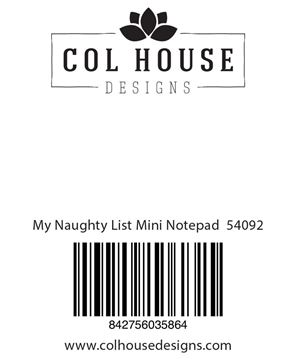 Picture of My Naughty List Mini Notepad