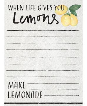 Picture of When Life Gives You Lemons Mini Notepad