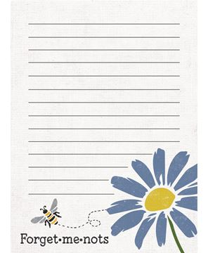 Picture of Forget-Me-Nots Mini Notepad
