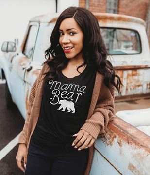 Picture of Mama Bear T-Shirt, Heather Black, XXL