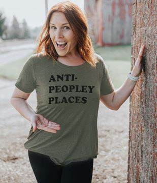 Picture of Anti Peopley T-Shirt, Heather City Green, XXL