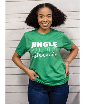 Picture of Jingle All The Cabernet, Heather Green,  T-Shirt